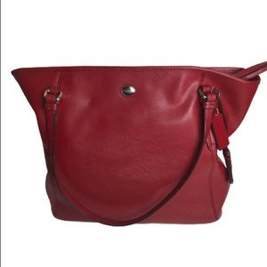 Coach New York Large Red Leather Tote